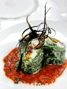 Зеленый Омлет в томатной луже
