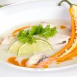Тайский куриный суп с имьбирём
