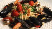 Феттучини с морепродуктами