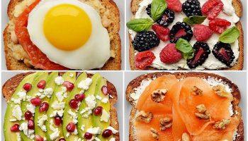 Полезные завтраки на тостах — идеи и фото