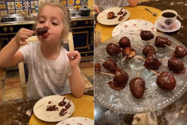 Завтрак детей Пугачевой и Галкина