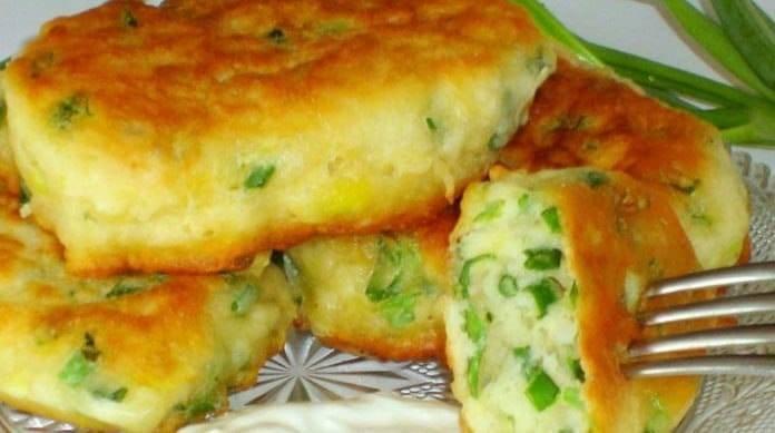Пирожки с зелёным луком