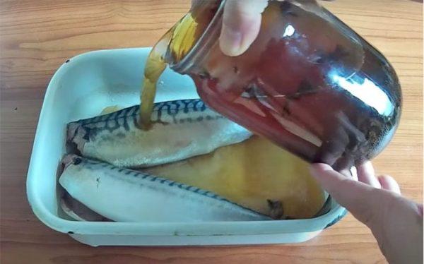 Маринование скумбрии