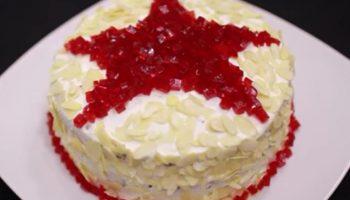 Очень вкусный и простой торт «Рубиновая звезда» — сделайте мужчине на 23 февраля