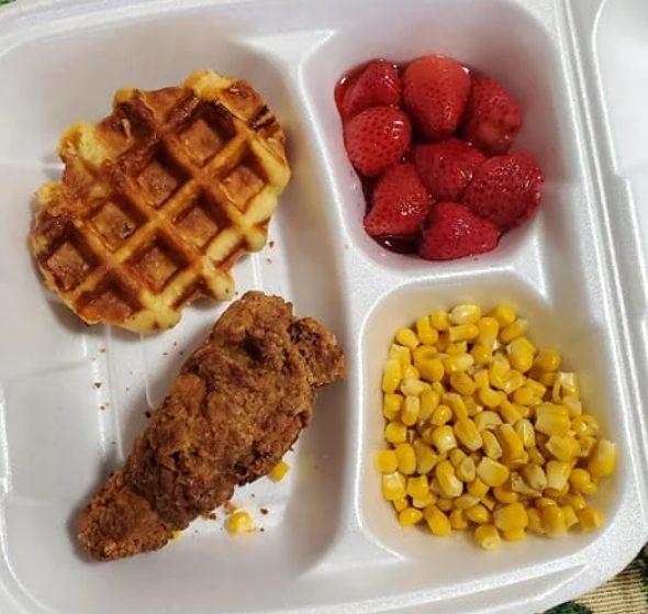 Вариант обеда в США