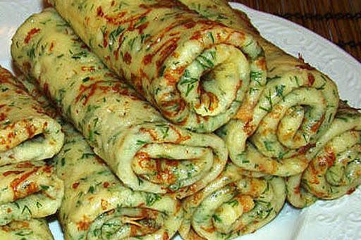 Блины с черемшой. Фото obshe.net