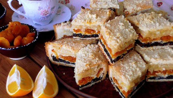 Потрясающе вкусный и красивый трёхслойный пирог - всегда готовим для дорогих гостей