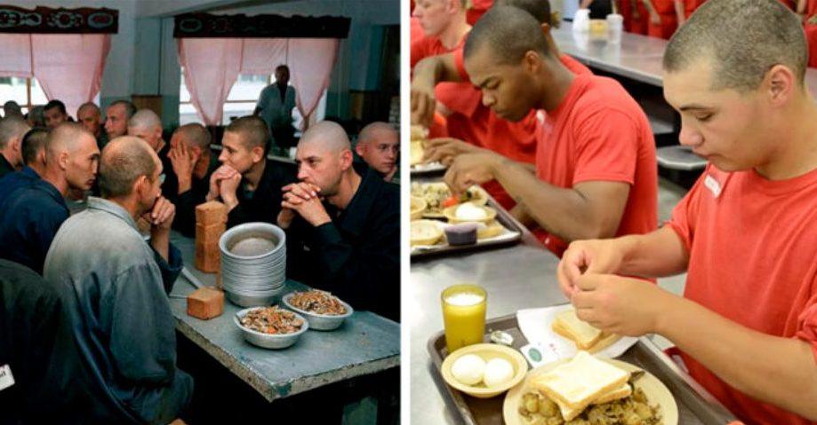 Еда в тюрьмах РФ и США. Фото fresher.ru