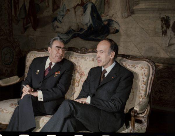 Валери Жискар д'Эстен и Деонид Брежнев, 1975 год. Фото РИАН
