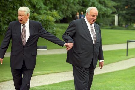 Гельмут Коль и Борис Ельцин. Фото gazeta.ru