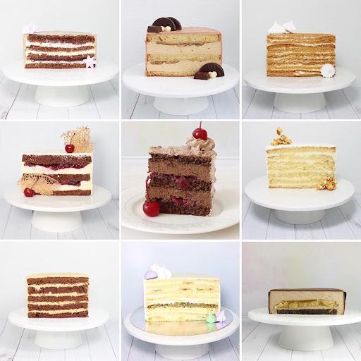 Варианты внутренностей свадебного торта. Фото dariol.od